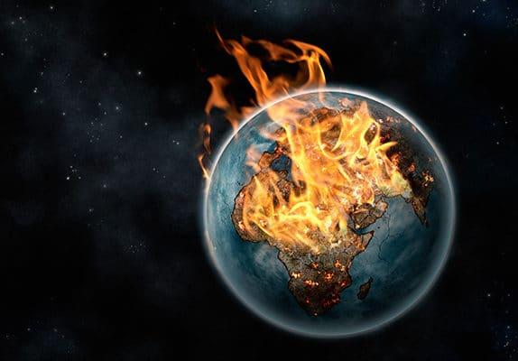 La Planète Terre en feu