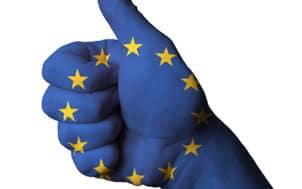 Le pouce bleu européen