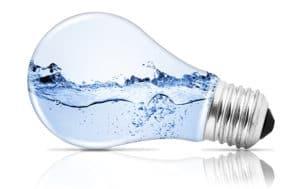 Ampoule avec de l'eau à l'intérieur
