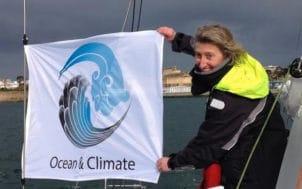 La navigatrice Catherine Chabaud s'implique pour le changement climatique